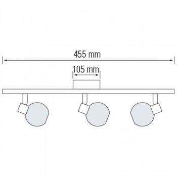 Світильник настінно-стельовий Horoz Electric Bodrum-3 max 3х40Вт Е14 (035-004-0003)