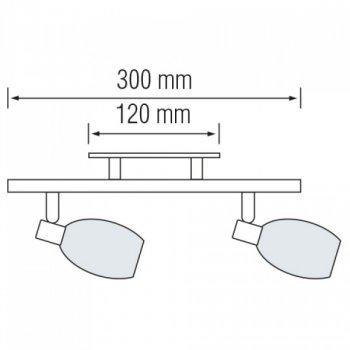 Світильник стельовий Horoz Electric Manavgat-2 max 2х40Вт Е14 (035-003-0002)