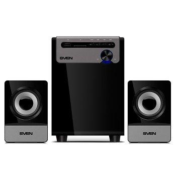 Акустическая система ( колонки ) SVEN MS-110 (black) 2.1 5W Woofer + 2*2,5W speaker USB/SD (12977)