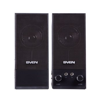 Акустическая система ( колонки ) SVEN SPS-604 (black)2x3W, деревянный корпус (11452)