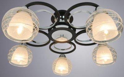 Світильник стельовий Arte Lamp A1604PL-5BK GINEVRA 40W E14 чорний (A1604PL-5BK)