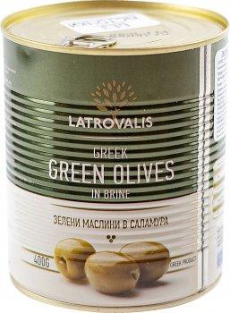 Оливки зелені Latrovalis з кісточками 141/160 900 мл (5204403213455)