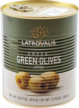 Оливки зелені Latrovalis без кісточок 141/160 900 мл (5204403223430)