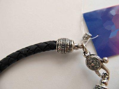 Кожаный шнурок на руку SilverArtisan 0.0053-8 размер 21,5
