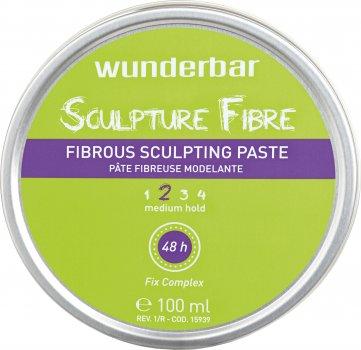 Паста для волосся Wunderbar Sculpture Fibre Fibrous Sculpting Paste волокниста середньої фіксації 100 мл