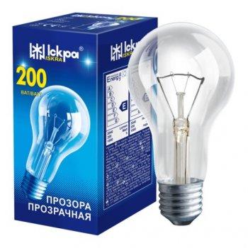 Лампа розжарювання Іскра В66 200W E27 прозора (10247664)