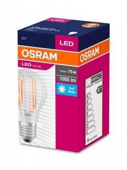 Лампа LED OSRAM V FIL A75 8W 4000K E27 (11913790)