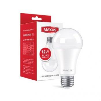 Лампа Maxus LED A60 12W 1380LM 3000K E27 (11987255)