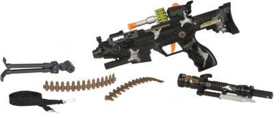 Игрушечный пулемет Same Toy Combat Gun со световыми и звуковыми эффектами (DF-9218BUt) (2340000003778)