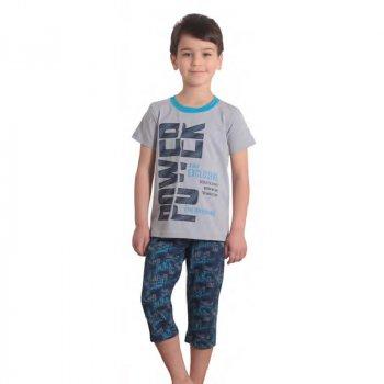 Пижама для мальчика Matilda MATILDA 11729-4 бежевий/т-синій