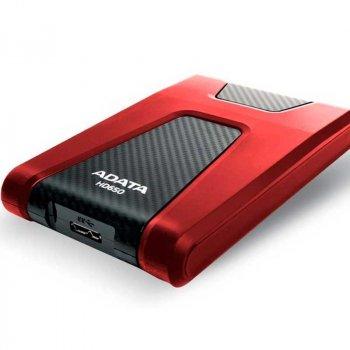 """Жорстку зовнішній диск A-DATA USB 3.2 Gen1 HD650 1TB 2,5"""" Червоній (AHD650-1TU31-CRD)"""