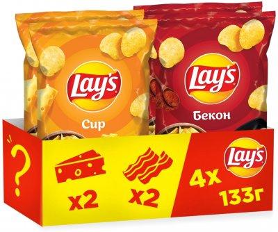 Упаковка-мікс чипсів Lay's 2 смаки 133 г х 4 шт. (4823063120722)