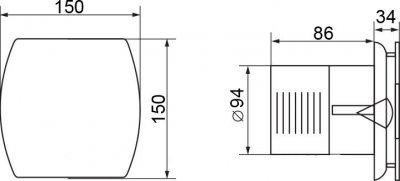 Вытяжной вентилятор ELECTROLUX EAFA-100ТН