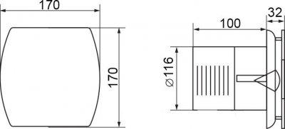 Вытяжной вентилятор ELECTROLUX EAFA-120ТН