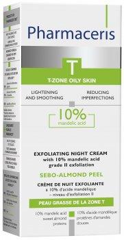 Ночной крем-пилинг для лица Pharmaceris T Sebo-Almond-Peel c 10% миндальной кислотой 50 мл (5900717142817)