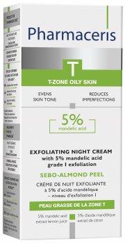 Ночной крем-пилинг для лица Pharmaceris T Sebo-Almond-Peel c 5% миндальной кислотой 50 мл (5900717142718)