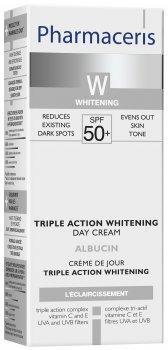 Отбеливающий крем для лица тройного действия Pharmaceris W Albucin SPF50+ 30 мл (5900717147317)
