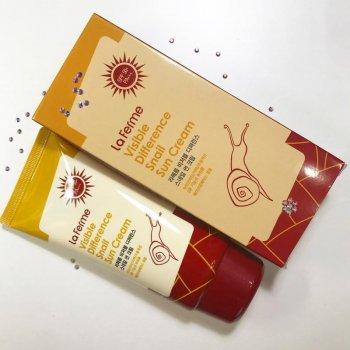 Солнцезащитный крем FarmStay Visible Difference Snail Sun Cream SPF50PA с улиточным муцином 70 мл