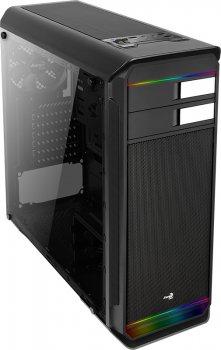 Корпус Aerocool Aero-500G RGB Tempered Glass Black