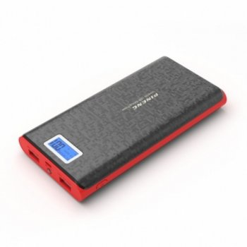Портативний зарядний пристрій Power Bank Pineng PN-920 40000 mAh з екраном Чорно-червоне (10766)
