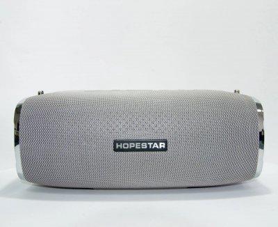 Мощная портативная bluetooth колонка Sound System A6 Original Hopestar 35 ВТ Серебрянная