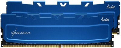 Оперативна пам'ять Exceleram DDR4-2666 16384MB PC4-21300 (Kit of 2x8192) Blue Kudos (EKBLUE4162619AD)