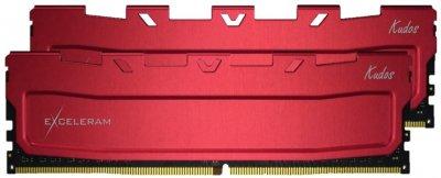 Оперативна пам'ять Exceleram DDR4-3200 16384MB PC4-25600 (Kit of 2x8192) Red Kudos (EKRED4163217AD)