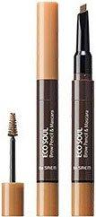 Туш-олівець для брів The Saem Eco Soul Brow Pencil & Mascara 01 Light Brown 2.7 г (8806164157138)