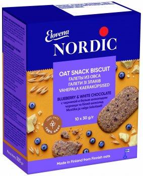Галеты из овса Nordic с черникой и белым шоколадом 300 г (6411200111467)