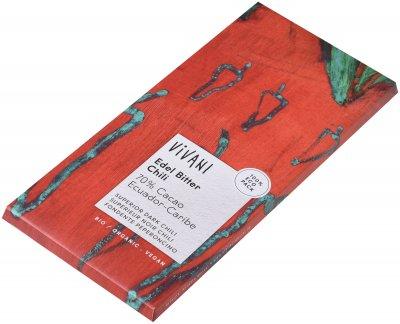 Шоколад Vivani чорний органічний 70% какао з перцем чилі 100 г (4044889000733)