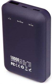 УМБ Vinga Display Soft Touch 10000 mAh Purple (BTPB0310LEDROP)