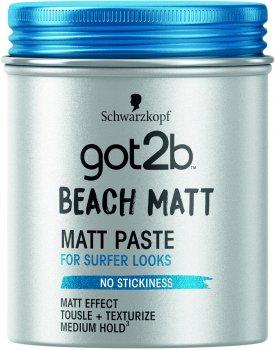 Паста матувальна для волосся Got2b Beach Matt Фіксація 3 100 мл (9000100417839)