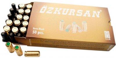 Патрон холостой пистолетный 8 мм Ozkursan 50 штук
