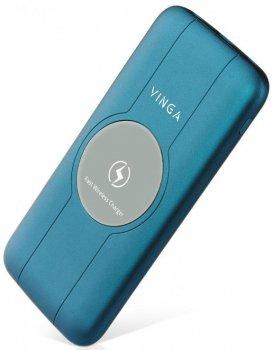 УМБ Vinga Wireless QC3.0 PD Soft Touch 10000 mAh Blue (BTPB3510WLROBL)