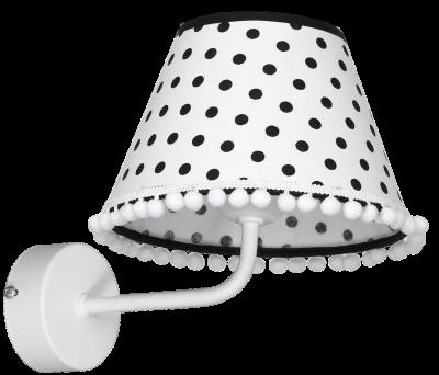Настінний світильник бра Luminex Molly дитячий Білий / Чорний (6970)