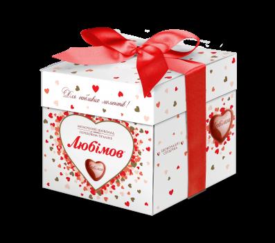 Упаковка цукерок Любимов у молочному шоколаді 208 г х 12 шт. (4820075500405)