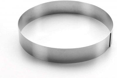 Форма Lacor з нержавіючої сталі для випічки торта 8х3.5см (68308)