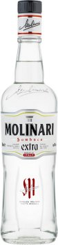 Упаковка ликера Самбука Molinari Extra 40% 0.7 л х 6 шт (8002095160005)