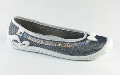 Текстильні балетки для дівчинки 3f mb 4A1/13 сірого кольору
