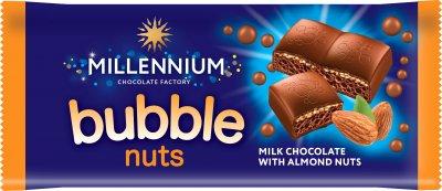 Упаковка молочного пористого шоколада Millennium с миндалём 70 г х 20 шт (4820075507428)