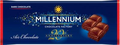Упаковка черного пористого шоколада Millennium 80 г х 28 шт (4820075507602)