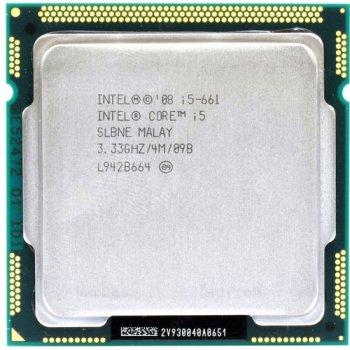Процессор Intel Core i5-661 Tray (LGA1156/ 2x3.33GHz / 2.5GT/s / 4MB / 87 Вт ) Б/У