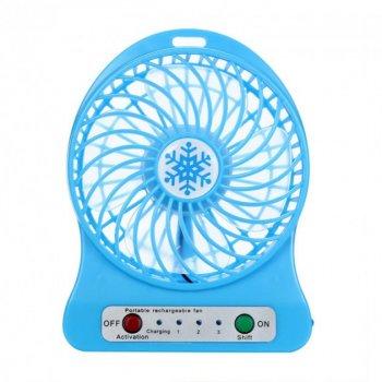 Переносний портативний вентилятор Ручний і Настільний UTM Блакитний