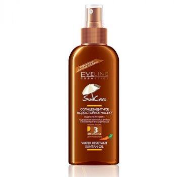 Солнцезащитное водостойкое масло для пляжа и солярия Eveline Sun Care SPF 3 с бета-каротином, 150 мл (5907609328281)