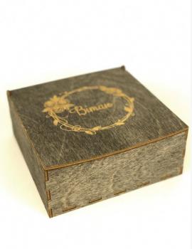 """Коробочка LaserBox ЛазерБокс """"Вітаю-2"""" Античне дерево(LBox-000072)"""