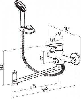 Змішувач для ванни DAMIXA Origin Balance 799500000