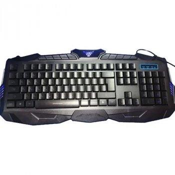 Комплект провідної Ігрова клавіатура з мишкою і LED підсвічуванням V100 Чорний