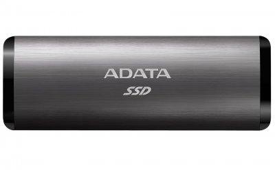 Портативний SSD A-DATA SE760 512GB Portable USB 3.2 Type-C 3D NAND TLC Black (ASE760-512GU32G2-CBK)