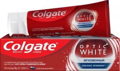 Зубна паста Colgate Optic White відбілююча Миттєве відбілювання 75 мл (8714789930817)