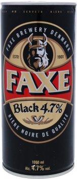 Пиво Faxe Black темное фильтрованное 4.7% 1 л (5741000136737)